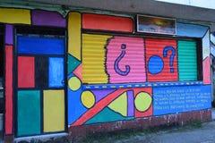Street Art in Livingston Izabal Guatemala royalty-vrije stock foto