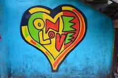 Street Art in Livingston Izabal Guatemala royalty-vrije stock afbeelding