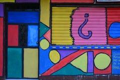 Street Art in Livingston Izabal Guatemala royalty-vrije stock fotografie