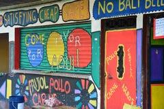 Street Art in Livingston Izabal Guatemala stock afbeelding