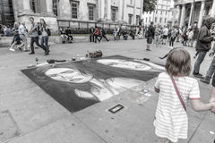 Street art in London Royalty Free Stock Photo