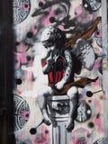 Street art. London street art , graffiti an angel Royalty Free Stock Photo