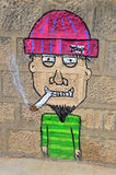 Street Art Man Smoking Royalty Free Stock Photo