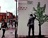 Street Art. Manchester northern quarter Stock Photography