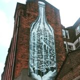 Street Art. Manchester northern quarter Stock Image