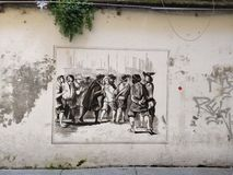 Street art Milan stock photography