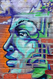 Street art Montreal alien. MONTREAL CANADA AUGUST 30: Street art Montreal alien on august 30 2014 in Montreal Canada. Montreal. is the perfect place to walk in Royalty Free Stock Photography