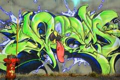 Street art Montreal alien Royalty Free Stock Photos