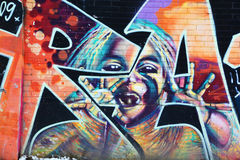 Street art Montreal alien. MONTREAL CANADA DEC 02: Street art Montreal alien on dec 02 2014 in Montreal Canada. Montreal. is the perfect place to walk in the Stock Photography