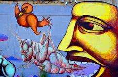 Street art Montreal alien Stock Photography