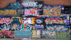 Street art Montreal alien Royalty Free Stock Photography