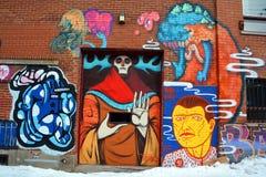 Street art Montreal alien Royalty Free Stock Photo