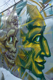 Street art Montreal alien Royalty Free Stock Images