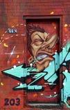 Street art Montreal alien Royalty Free Stock Image