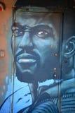 Street art Montreal black man Stock Image