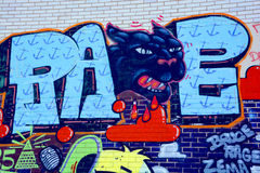 Street art Montreal black panther Stock Images