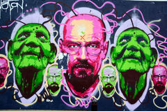 Street art Montreal Breaking Bad Royalty Free Stock Photos