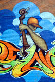 Street art Montreal. MONTREAL CANADA AUGUST 30: Street art Montreal on august 30 2014 in Montreal Canada. Montreal is the perfect place to walk in the back Royalty Free Stock Images