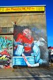 Street art Montreal Carey Price Royalty Free Stock Photo