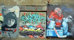 Street art Montreal Carey Price Stock Photography