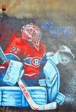 Street art Montreal Carey Price Stock Photo