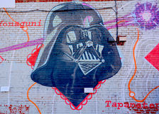 Street art Montreal Darth Vador Royalty Free Stock Image