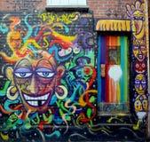 Street art Montreal fumny woman Royalty Free Stock Photos