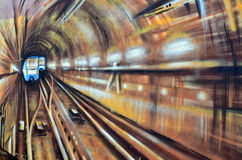 Street art Montreal metro Stock Images