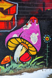 Street art Montreal mushroom. MONTREAL CANADA DEC 3: Street art Montreal mushroom on december 3 2014 in Montreal Canada. Montreal is the perfect place to walk in stock images