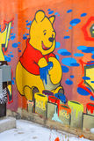 Street art Montreal Winnie the pooh Royalty Free Stock Photo