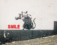 Street art mouse Royalty Free Stock Images