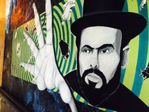 Street Art Mural Face and Hand Royalty Free Stock Images
