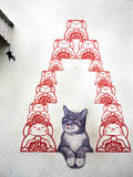 Street Art Mural in Georgetown, Penang, Malaysia Stock Photography