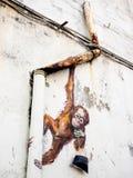 Street Art Mural in Kuching, Sarawak, Malaysia Stock Image