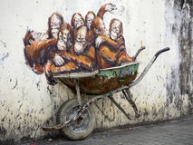 Street Art Mural in Kuching, Sarawak, Malaysia Royalty Free Stock Image