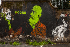 Spanish's artist hogre  Murale in rome Stock Photography