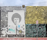 Donald Trump as part of Miami's Street Art in Midtown Miami. MIAMI, FL - DECEMBER 31 2014 - Miami's central art district in the Wynwood and Edgewater Stock Photo
