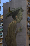 Street art murals in rome for 999contemporary gallery Stock Image