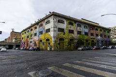 Street art murals in rome Stock Photography