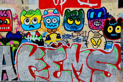 Street art naive art Royalty Free Stock Images