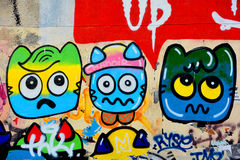 Street art naive art Royalty Free Stock Image
