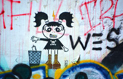 Street art naive art Stock Photo