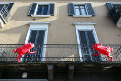 Street art on Navigli Royalty Free Stock Photo