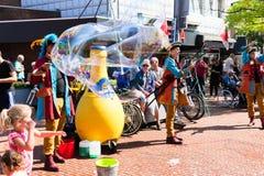 Street-art Netherlands-Winschoten Waterbei festival. royalty free stock image