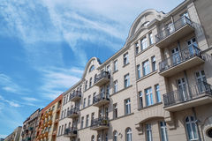 Street with Art Nouveau buildings Royalty Free Stock Photo