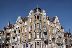 Street with Art Nouveau buildings. In Poznan Stock Photo