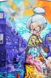 Street art old woman