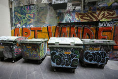 Street art is one of the major tourists attraction in Melbourne Stock Photography