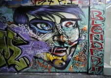 Street art is one of the major tourists attraction in Melbourne Royalty Free Stock Images