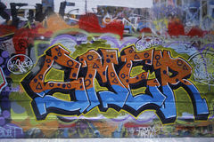 Street art is one of the major tourists attraction in Melbourne Stock Image